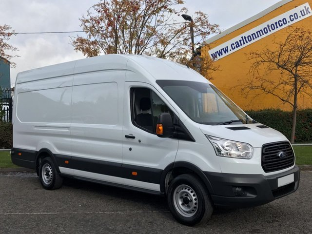 2014 64 FORD TRANSIT  350e TDCi 125ps L4 H3 Lwb High Roof Jumbo Van Rwd Ex Lease Service Printout Free UK Delivery