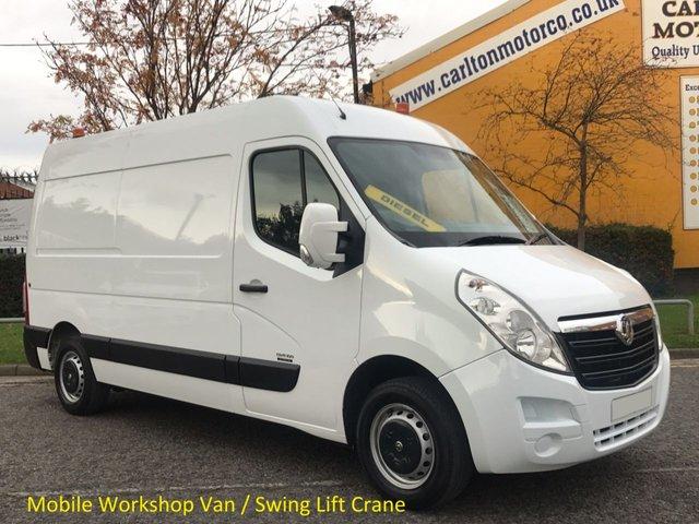 2011 60 VAUXHALL MOVANO 2.3 Cdti L2 Mobile Workshop [ Internal Swing Lift / Crane ] H2 van Free UK Delivery