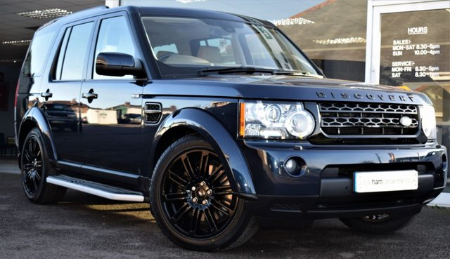 2012 62 LAND ROVER DISCOVERY 4 3.0 SDV6  HSE 7 5d AUTO 255 BHP COMMAND SHIFT BLACK STYLING PACK