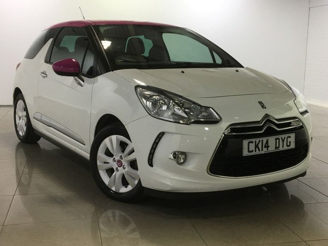 View our 2014 14 CITROEN DS3 1.6 E-HDI AIRDREAM DSTYLE PINK 3d 90 BHP