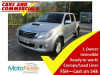 USED 2012 62 TOYOTA HI-LUX DOUBLE CAB Invincible 3.0 D-4D 4WD 171ps (Canopy) Canopy FSH 1 Owner