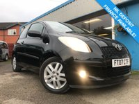 USED 2007 07 TOYOTA YARIS 1.3 TR VVTI 3d 86 BHP LOW MILEAGE!! 1 OWNER
