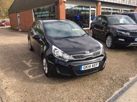 USED 2014 14 KIA RIO 1.2 VR7 5 DOOR 84 BHP NEW SHAPE IN BLACK APPROVED CARS ARE PLEASED TO OFFER THIS  KIA RIO 1.2 VR7 5 DOOR 84 BHP,THIS CAR IS NEW SHAPE IN SOLID BLACK WITH BLACK INTERIOR IN IMMACULATE CONDITION WITH A FULL SERVICE HISTORY,A GREAT FIRST CAR AS ITS VERY CHEAP TO INSURE.