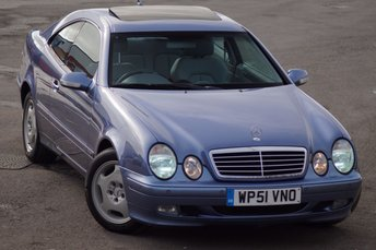 2002 MERCEDES-BENZ CLK 2.3 CLK230 KOMPRESSOR ELEGANCE 2d AUTO ONE OWNER £3495.00
