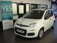USED 2013 63 FIAT PANDA 1.2 EASY 5d 69 BHP Fitted with air conditioning which was a £500 extra & £30 tax per year makes this New shape 5 door Panda an ideal car economical family motoring...Finished in white, nothing requires body shop attention, not been smoked in. Will average around 50 MPG,  2 Keys/ABS Power steering & Air conditioning This Punto is excellent throughout. Its been serviced annually with receipts. It will be supplied with 6 months warranty (which can be extended) & 12 months MOT free of advisory notice.