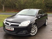 USED 2009 09 VAUXHALL ASTRA 1.9 TWIN TOP EXCLUSIV BLACK 2d 150 BHP CONVERTIBLE LEATHER MOT 06/18 CONVERTIBLE HARDTOP. BLACK MET WITH FULL BLACK LEATHER TRIM. HEATED SEATS. CRUISE CONTROL. 18 INCH ALLOYS. COLOUR CODED TRIMS. AIR CON. R/CD/MP3 PLAYER. 6 SPEED MANUAL. MFSW. MOT 06/18. AGE/MILEAGE RELATED SALE. TEL 01937 849492