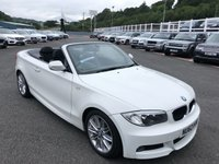USED 2012 62 BMW 1 SERIES 2.0 120D M SPORT 2d 175 BHP Alpine White, Black half leather, only 27,000 miles