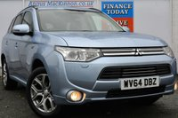 USED 2014 64 MITSUBISHI OUTLANDER 0.0 PHEV GX 4HS 5d AUTO 162 BHP **ONE OWNER FROM NEW**