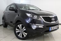 USED 2013 62 KIA SPORTAGE 2.0 CRDI KX-3 SAT NAV 5DR 134 BHP FULL SERVIXE HISTORY + HEATED LEATHER SEATS + SAT NAVIGATION  + REVERSE CAMERA + BLUETOOTH + CRUISE CONTROL + MULTI FUNCTION WHEEL + 18 INCH ALLOY WHEELS