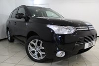 USED 2015 64 MITSUBISHI OUTLANDER 2.0 PHEV GX 4H 5DR AUTOMATIC 162 BHP FULL MITSUBISHI SERVICE HISTORY + HEATED LEATHER SEATS + CLIMATE CONTROL + BLUETOOTH + CRUISE CONTROL + MULTI FUNCTION WHEEL + 18 INCH ALLOY WHEELS