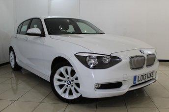 2013 BMW 1 SERIES 2.0 118D URBAN 5DR 141 BHP £11670.00