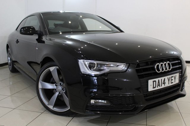 View our 2014 14 AUDI A5 1.8 TFSI S LINE BLACK EDITION 2DR AUTOMATIC 168 BHP