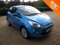 USED 2015 15 FORD KA 1.2 ZETEC 3d 69 BHP Front Heated Windscreen, Air Con, Cheap to Tax