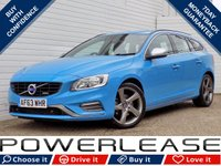 USED 2014 63 VOLVO V60 2.0 D3 R-DESIGN NAV 5d 134 BHP BLACK FRIDAY WEEKEND EVENT £30 TAX REVERSE CAM DAB CRUISE