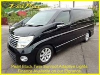 USED 2004 54 NISSAN ELGRAND Highway Star 3.5 Automatic 8 Seats Sunroof Rear Camera and Adaptive Lights +TWIN SUNROOF+REVERSE CAMERA+
