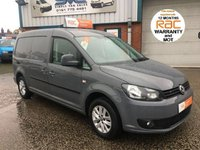 2013 VOLKSWAGEN CADDY MAXI 1.6 C20 TDI HIGHLINE 102BHP PURE GREY AIR CON CRUISE PARK ASSIST BLUETOOTH £9495.00