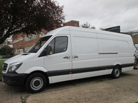 USED 2014 64 MERCEDES-BENZ SPRINTER 2.1 313CDI XLWB HIGH ROOF. AIRCON. 1 OWNER. RARE VAN. 4.7MTR AIRCON. FMBSH. LOW RATE FINANCE. PX WELCOME. CLEAN VAN.