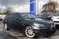 USED 2006 06 BMW 5 SERIES 2.0 520D M SPORT TOURING 5d 161 BHP Full Service History - Full Black Leather