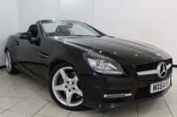 USED 2014 64 MERCEDES-BENZ SLK 2.1 SLK250 CDI BLUEEFFICIENCY AMG SPORT 2DR AUTOMATIC 204 BHP FULL MERCEDES SERVICE HISTORY + LEATHER SEATS + AIR CONDITIONING + PARKING SENSOR + BLUETOOTH + MULTI FUNCTION WHEEL + DAB RADIO + 18 INCH ALLOY WHEELS