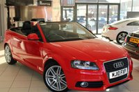 USED 2010 10 AUDI A3 CABRIOLET 1.8 TFSI S LINE 2d 158 BHP HALF LEATHER SEATS + FULL SERVICE HISTORY + 18 INCH ALLOYS + SPORT CHASSIS + ELECTRIC WINDOWS + ELECTRIC/HEATED MIRRORS