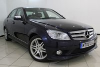 USED 2008 08 MERCEDES-BENZ C CLASS 1.8 C180 KOMPRESSOR SPORT 4DR AUTOMATIC 155 BHP FULL MERCEDES SERVICE HISTORY + HEATED LEATHER SEATS + BLUETOOTH + PARKING SENSOR + CRUISE CONTROL + MULTI FUNCTION WHEEL + 17 INCH ALLOY WHEELS