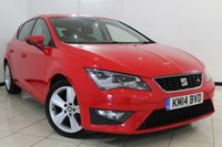 USED 2014 14 SEAT LEON 2.0 TDI FR TECHNOLOGY DSG 5DR AUTOMATIC 150 BHP FULL SERVICE HISTORY + HALF LEATHER SEATS + 0% FINANCE AVAILABLE T&C'S APPLY + SAT NAVIGATION + BLUETOOTH + CRUISE CONTROL + MULTI FUNCTION WHEEL + CLIMATE CONTROL + 17 INCH ALLOY WHEELS