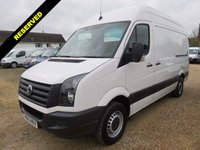 USED 2013 63 VOLKSWAGEN CRAFTER 2.0 CR35 TDI HIGH ROOF MWB STARTLINE WITH TAIL LIFT 6,771 MILES ONLY