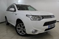 USED 2015 64 MITSUBISHI OUTLANDER 2.0 PHEV GX 3H 5DR AUTOMATIC 162 BHP FULL SERVICE HISTORY + HALF LEATHER SEATS + CLIMATE CONTROL + PARKING SENSOR + BLUETOOTH + CRUISE CONTROL + MULTI FUNCTION WHEEL + 18 INCH ALLOY WHEELS