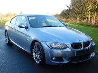 USED 2011 11 BMW 3 SERIES 3.0 325D M SPORT 2d AUTO 202 BHP OYSTER DAKOTA LEATHER, PADDLE SHIFT, XENON