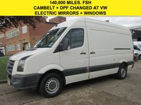USED 2010 10 VOLKSWAGEN CRAFTER 2.5 TDI CR35 MWB HIGH ROOF 136BHP. CAMBELT + DPF CHANGED. ELECTRIC MIRRORS+WINDOWS. TOW-BAR. PX WELCOME
