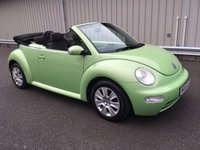USED 2005 05 VOLKSWAGEN BEETLE 1.6 PETROL CABRIOLET CONVERTIBLE 1 LADY OWNER, LOW MILEAGE, RAC WARRANTY