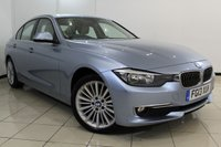 USED 2013 13 BMW 3 SERIES 2.0 320D XDRIVE LUXURY 4DR AUTOMATIC 181 BHP FULL BMW SERVICE HISTORY + LEATHER SEATS + SAT NAVIGATION + PARKING SENSOR + BLUETOOTH + CRUISE CONTROL + MULTI FUNCTION WHEEL + 18 INCH ALLOY WHEELS