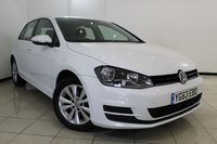 USED 2013 63 VOLKSWAGEN GOLF 2.0 SE TDI BLUEMOTION TECHNOLOGY 5DR 148 BHP FULL SERVICE HISTORY + 0% FINANCE AVAILABLE T&C'S APPLY + AIR CONDITIONING + BLUETOOTH + CRUISE CONTROL + MULTI FUNCTION WHEEL + 16 INCH ALLOY WHEELS