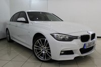 USED 2015 65 BMW 3 SERIES 3.0 335D XDRIVE M SPORT 4DR AUTOMATIC 308 BHP LEATHER SEATS + SAT NAVIGATION + PARKING SENSOR + BLUETOOTH + CRUISE CONTROL + MULTI FUNCTION WHEEL + 18 INCH ALLOY WHEELS