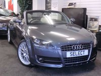 """USED 2007 57 AUDI TT 2.0 TFSI 2d 200 BHP Immaculate Roadster in Alpine grey metallic with grey leather,black electric roof,19""""Split rim alloys,rear spoiler-service history-just serviced-MUST BE VIEWED"""