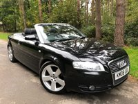 2008 AUDI A4 2.0 TDI CABRIOLET S LINE 2d 141 BHP £6750.00