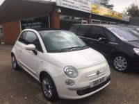 USED 2011 11 FIAT 500 0.9 C LOUNGE 3d 85 BHP CONVERTIBLE TWINAIR IN WHITE. APPROVED CARS ARE PLEASED TO OFFER THIS FIAT 500 0.9 C LOUNGE 3 DOOR 85 BHP CONVERTIBLE IN WHITE WITH BLACK CLOTH HALF LEATHER INTERIOR AND ALLOYS,AIR,CON AND MUCH MORE WITH A FULL SERVICE HISTORY SERVICED AT 5K,16K,26K,31K AND 40K A GREAT LITTLE CONVERTIBLE.