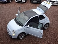 USED 2008 57 FIAT 500 1.4 SPORT 3d 99 BHP PAN ROOF, LEATHER,ALLOY WHEELS