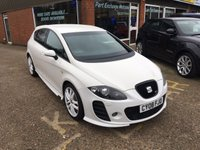 USED 2008 08 SEAT LEON 2.0 CUPRA K1 TSI 5d 237 BHP IN WHITE A STUNNING EXAMPLE APPROVED CARS ARE PLEASED TO OFFER THIS  SEAT LEON 2.0 CUPRA K1 TSI 5d 300 BHP AND 420 N M TORQUE IN WHITE IN STUNNING CONDITION,THESE CARS ARE VERY RARE AND VERY DESIRABLE ESPECIALLY IN THIS CONDITION THE CARS HAD LOTS OF MONEY SPENT ON VARIOUS BILL TOWARDS ITS UP KEEP AND RECENTLY £1000 ON BRAKES ALONE A TRULY IS A ONE OFF CAR.