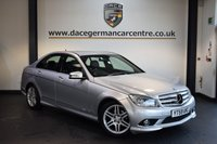 USED 2010 59 MERCEDES-BENZ C CLASS 2.1 C250 CDI BLUEEFFICIENCY SPORT 4DR 204 BHP + HALF BLACK LEATHER INTERIOR + SPORT SEATS + ELECTRIC FOLDING MIRRORS + AUXILIARY PORT + FRONT/REAR PARKING SENSORS + 17 INCH ALLOY WHEELS +