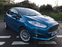 2013 FORD FIESTA 1.0 TITANIUM ECOBOOST 3dr 100 BHP Blue metallic, Genuine low 33k Miles £SOLD