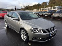 USED 2014 64 VOLKSWAGEN PASSAT 2.0 EXECUTIVE STYLE TDI BMT 4d 139 BHP Only 12,000 miles with FVWSH & just serviced. Leather, Sat Nav, media ++