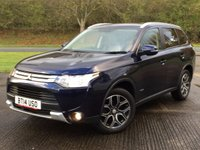 USED 2014 14 MITSUBISHI OUTLANDER 2.3 DI-D GX 3 5d 147 BHP 7 SEATER LEATHER PRIVACY FSH NO FINANCE REPAYMENTS FOR 2 MONTHS STC. 4WD. 7 SEATER. STUNNING BLUE MET WITH FULL BLACK LEATHER TRIM. CRUISE CONTROL. 18 INCH ALLOYS. COLOUR CODED TRIMS. PRIVACY GLASS. PARKING SENSORS. BLUETOOTH PREP. AIR CON. R/CD PLAYER. 6 SPEED MANUAL. MFSW. MOT 10/18. ONE PREV OWNER. FULL SERVICE HISTORY. FCA FINANCE APPROVED DEALER. TEL 01937 849492