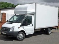 USED 2014 12 FORD TRANSIT 350 LWB  LUTON WITH TAIL LIFT(125PS)