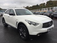 USED 2014 64 INFINITI QX70 3.0 D GT PREMIUM Diesel Auto 4x4 White, Black leather, total spec inc sunroof & camera ++ Only 22,000 miles FSH