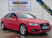 USED 2014 64 AUDI A4 2.0 TDI S LINE 4d 175 BHP Full Dealer History £30 Tax 0% Deposit Finance Available