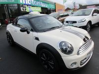 USED 2015 65 MINI COUPE 1.6 COOPER 2d 120 BHP VERY LOW MILES..JUST ARRIVED.TEST DRIVE TODAY