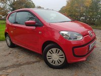 USED 2013 62 VOLKSWAGEN UP 1.0 MOVE UP 3d AUTO FULL SERVICE HISTORY