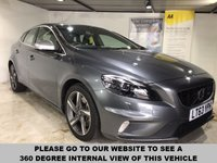 USED 2013 63 VOLVO V40 2.0 D3 R-DESIGN LUX 5d AUTO 148 BHP R-Design leather upholstery,       R-Design steering wheel,       Heated front seats,       Heated front screen,      Bluetooth,       17-inch alloy wheels
