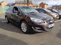 USED 2014 64 VAUXHALL ASTRA 2.0 ELITE CDTI S/S 5d 163 BHP EXCELLENT FUEL ECONOMY!!..LOW CO2 EMISSIONS(124G/KM)..LOW ROAD TAX...FULL HISTORY...ONLY 13944 MILES FROM NEW!!..WITH PARKING SENSORS,CLIMATE CONTROL,17INCH ALLOY WHEELS, LEATHER TRIM, AND AUXILLIARY INPUT AND MEDIA!!